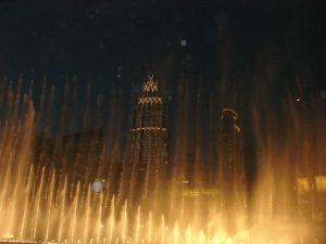 pokaz fontann